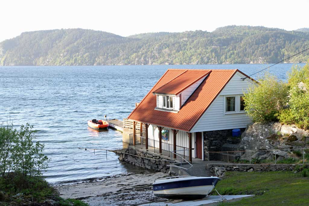 Bilde av naustet på Solvik syn- og mestringssenter på Askøy utenfor Bergen