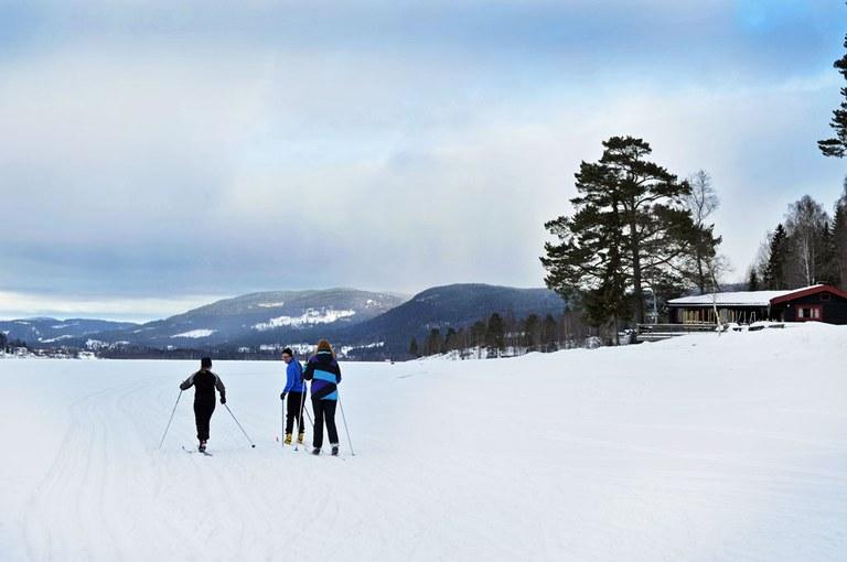 Skitur på Hurdalsjøen