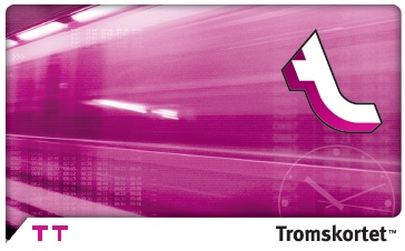 Bildet viser et rosalilla TT kort