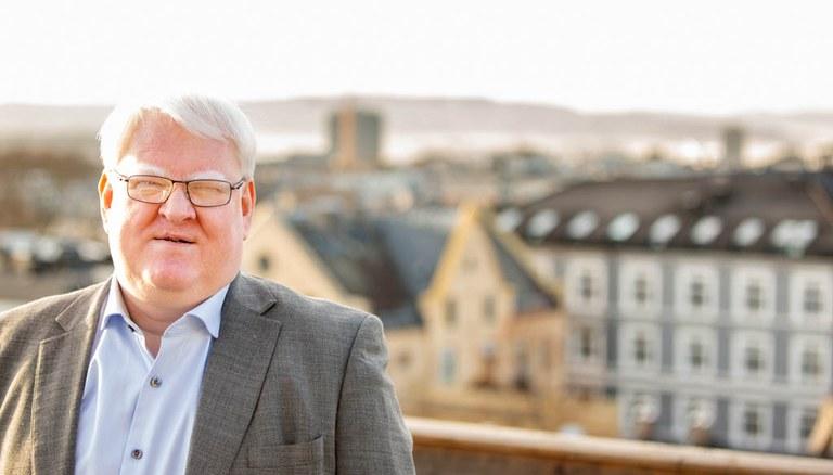 Forbundsleder i Norges Blindeforbund Terje André Olsen.